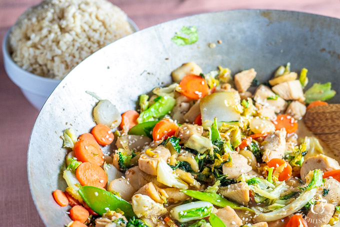 This simple, flexible recipe for honey ginger stir fry with chicken should be one of your go-to easy weeknight dinner recipes!