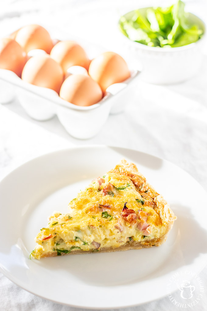 Once you try this classic ham and cheese quiche version of this tasty breakfast pie, you'll want to make a different one for every morning of the week!