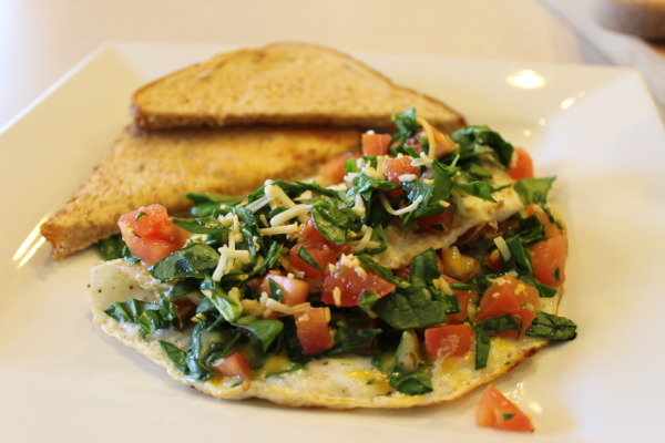 tasty low calorie omelet