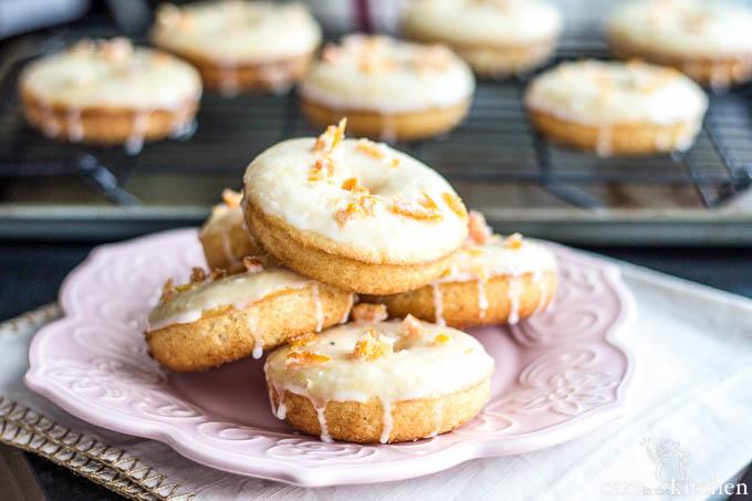 Grapefruit Doughnuts | Catz in the Kitchen | catzinthekitchen.com #doughnuts