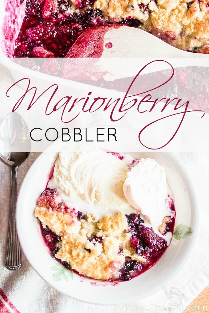Marionberry Cobbler   Catz in the Kitchen   catzinthekitchen.com #berries