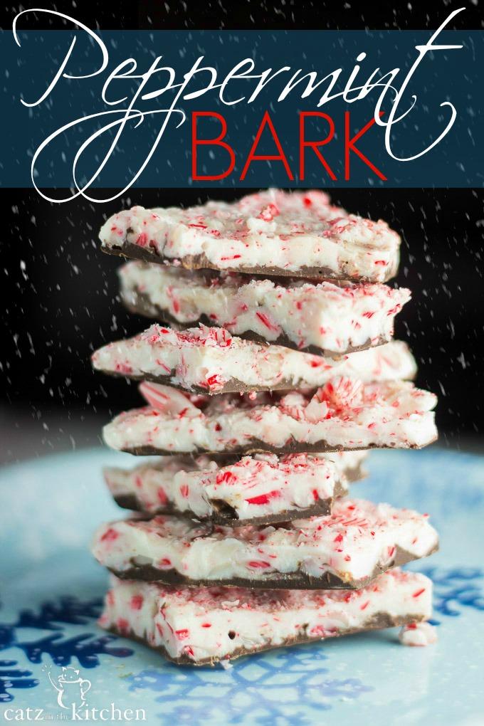 Peppermint Bark | Catz in the Kitchen | catzinthekitchen.com #Christmas