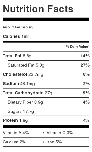 Chai Latte Bars Nutrition Facts