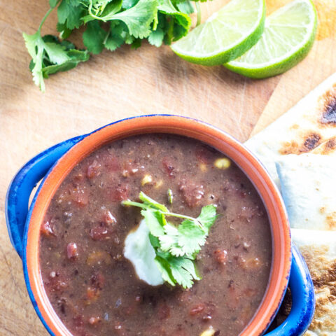 Slow-Cooker Black Bean Soup