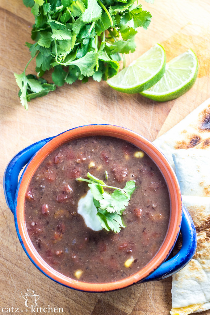 Slow Cooker Black Bean Soup-3
