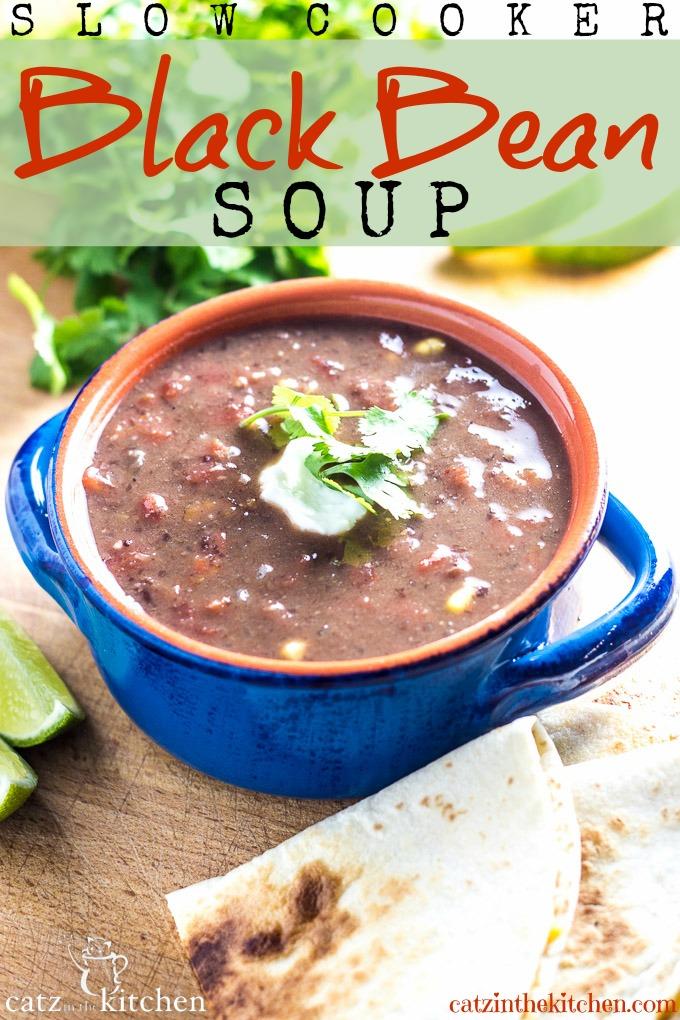 Slow Cooker Black Bean Soup PIN