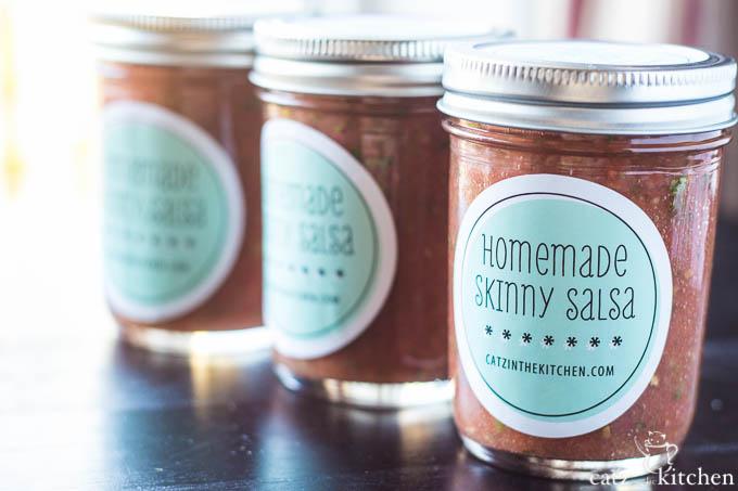 Homemade Skinny Salsa | Catz in the Kitchen | catzinthekitchen.com #salsa