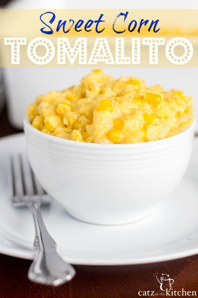 Sweet Corn Tomalito | Catz in the Kitchen | catzinthekitchen.com #corn