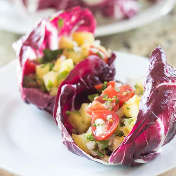 Hawaiian Radicchio Wraps | Catz in the Kitchen | catzinthekitchen.com #wraps