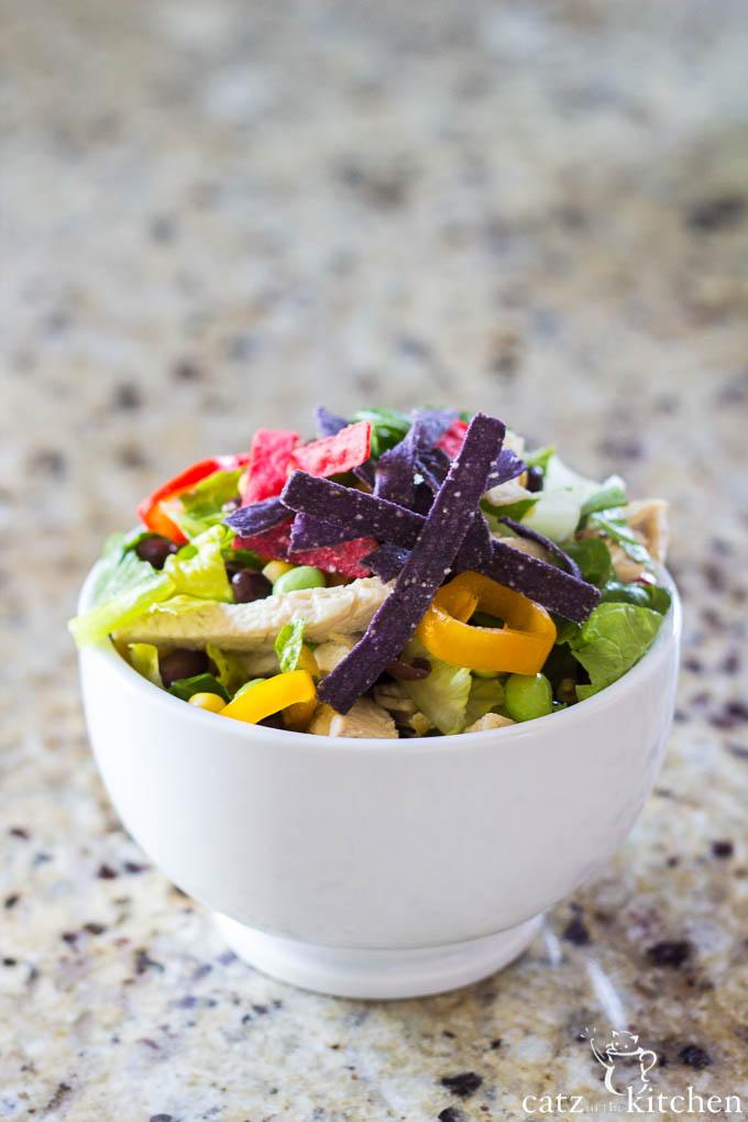 Southwest Chicken Salad   Catz in the Kitchen   catzinthekitchen.com #salad