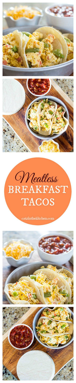 Meatless Breakfast Tacos | Catz in the Kitchen | catzinthekitchen.com | #breakfast