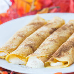 Pumpkin Spice Crêpes | Catz in the Kitchen | catzinthekitchen.com | #crepes #fall #pumpkin