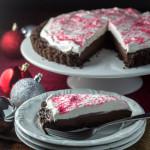 Candy Cane Chocolate Tart | Catz in the Kitchen | catzinthekitchen.com | #Christmas #candycane #tart #chocolate
