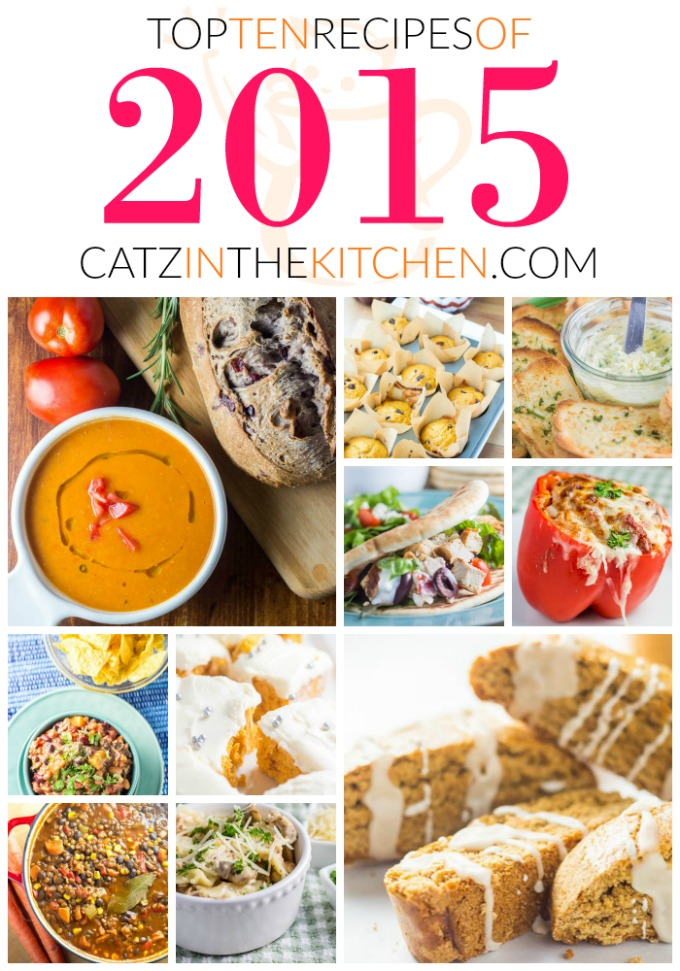 Top Ten Recipes of 2015 | Catz in the Kitchen | catzinthekitchen.com | #2015 #NewYears #Recipes