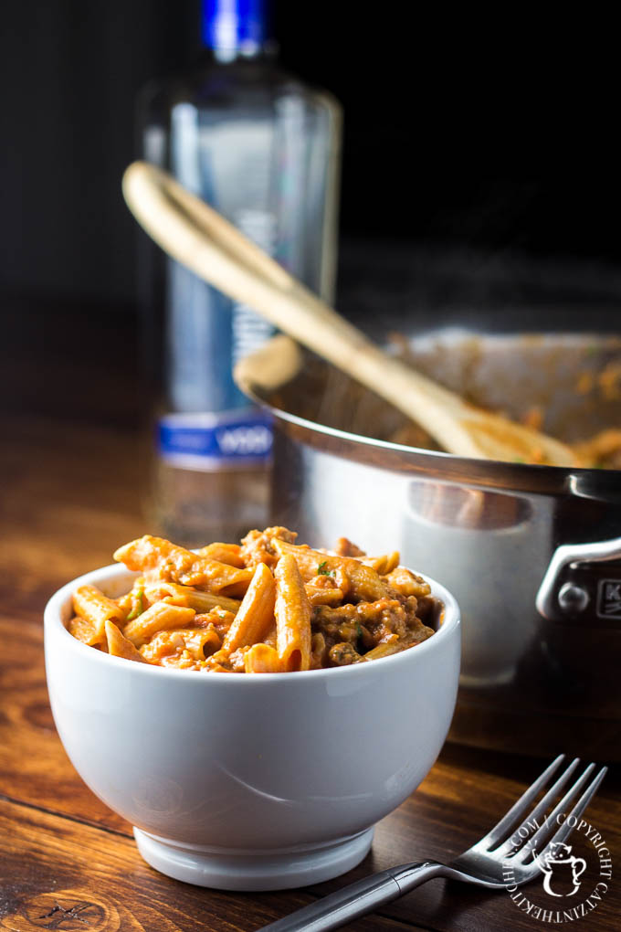 Vodka Penne | Catz in the Kitchen | catzinthekitchen.com | #penne #vodka #pasta