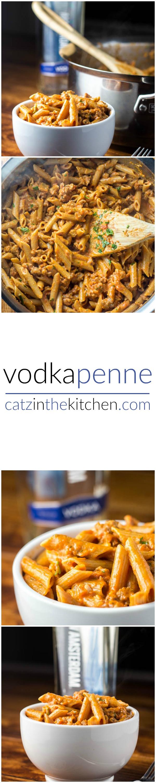 Vodka Penne   Catz in the Kitchen   catzinthekitchen.com   #penne #vodka #pasta