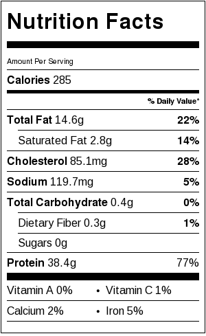 Broiled Rosemary Salmon Nutrition Facts | Catz in the Kitchen | catzinthekitchen.com | #nutrition #salmon #healthy