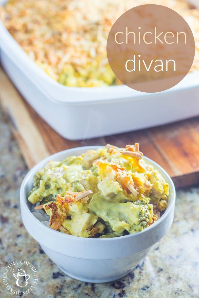 Chicken Divan | Catz in the Kitchen | catzinthekitchen.com | #chicken #casserole #recipe