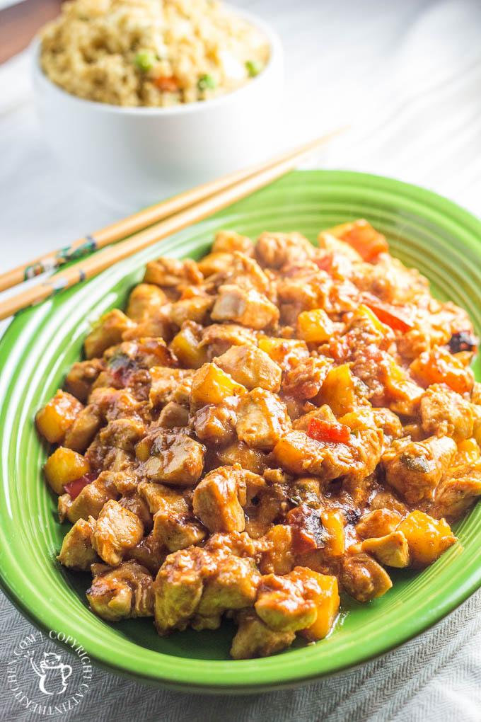 Skinny Sweet & Sour Chicken | Catz in the Kitchen | catzinthekitchen.com | #sweetandsour #healthy #skinny #recipe
