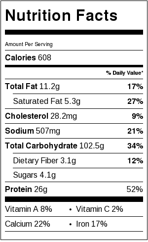 Skinny Three Cheese Penne Nutrition Facts | Catz in the Kitchen | catzinthekitchen.com | #nutrition #penne #pasta #healthy