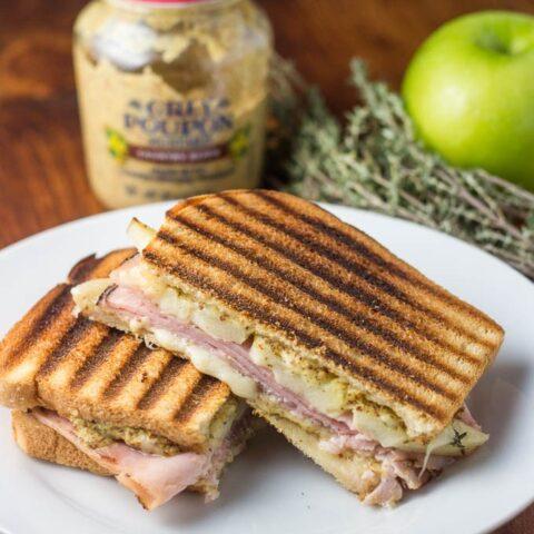 Ham, Gruyère, & Apple Panini