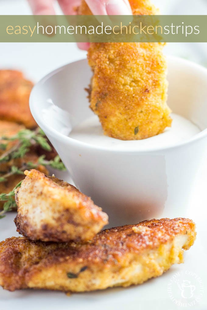 A simple, fun finger food, especially for the kiddos, these easy homemade chicken strips can help replace (or replicate) that run to the deli counter!