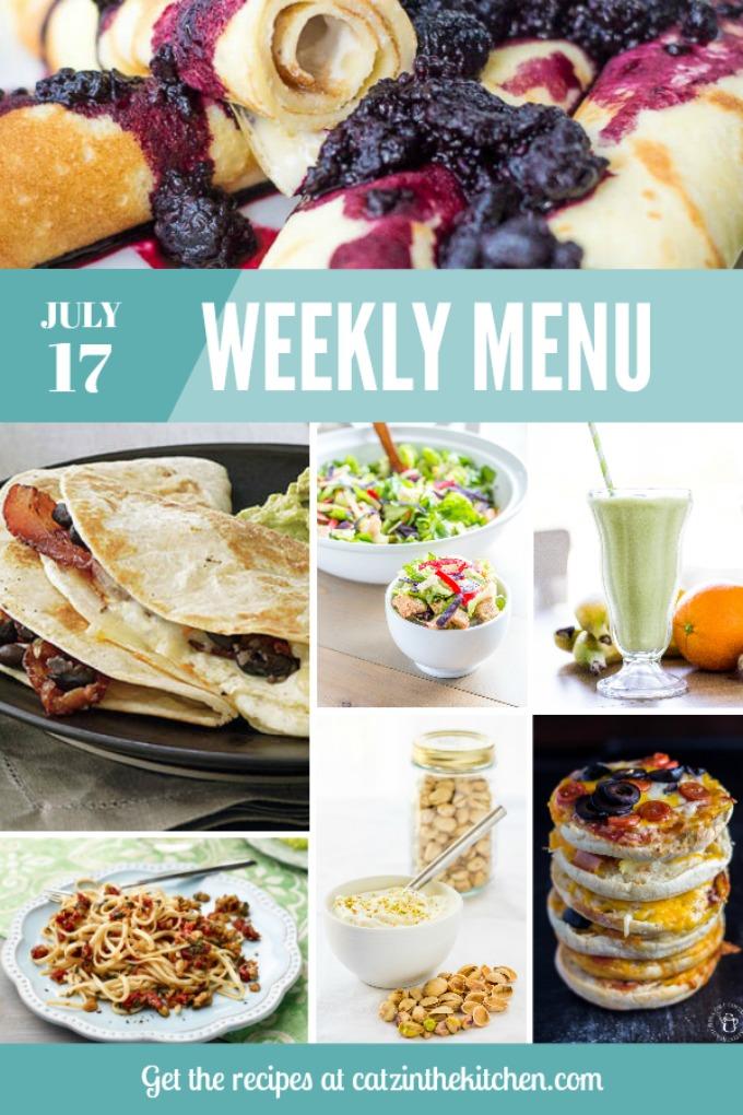 Weekly Menu | Catz in the Kitchen | catzinthekitchen.com | #menu #mealplan