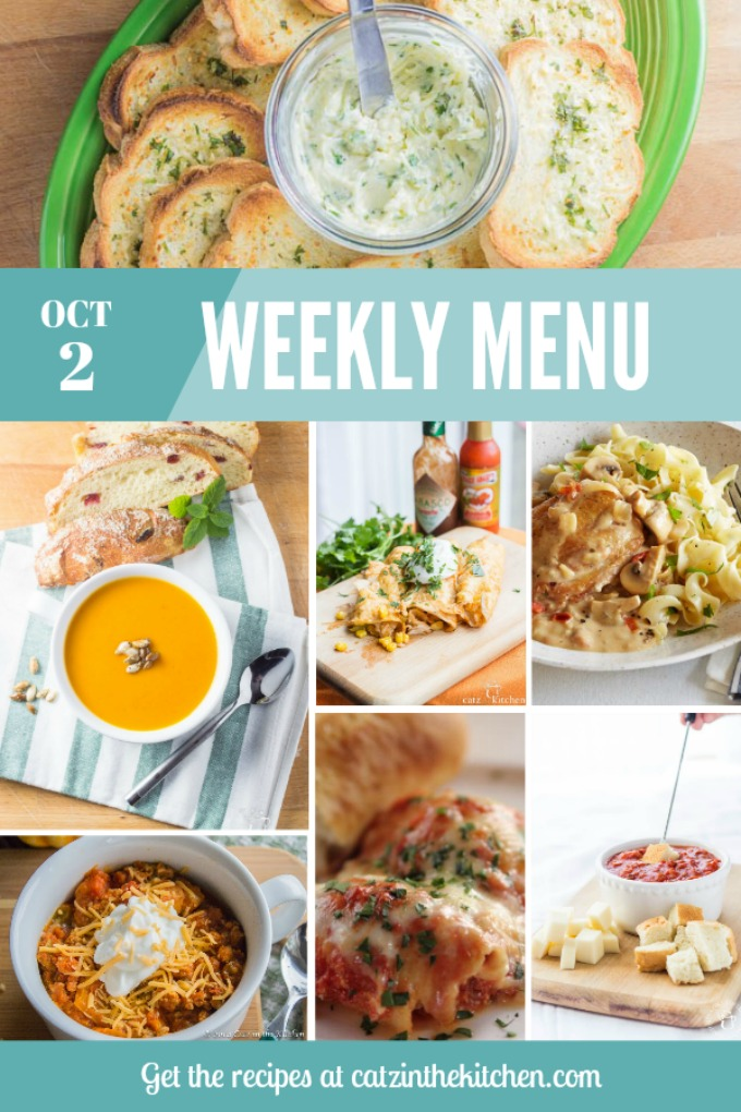 Weekly Menu   Catz in the Kitchen   catzinthekitchen.com   #menu #mealplan