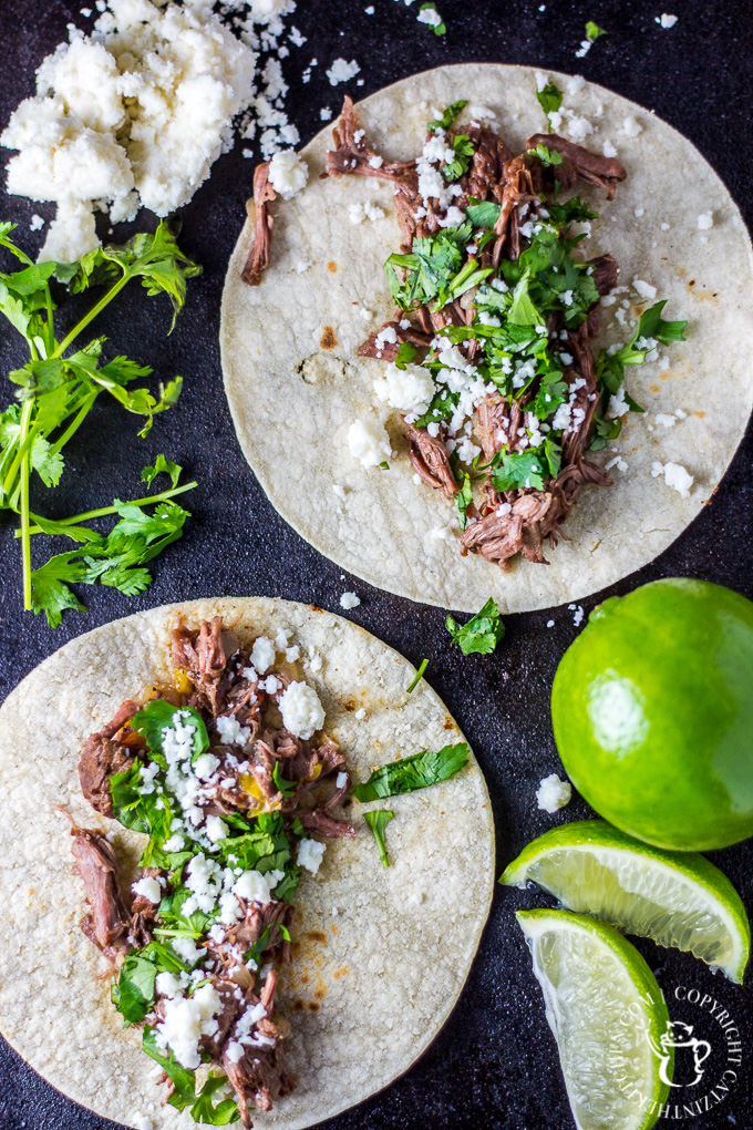 A bit like a slow cooker recipe without the slow cooker, these carne asada street tacos cook low and slow in a dutch oven until they are absolutely irresistible!