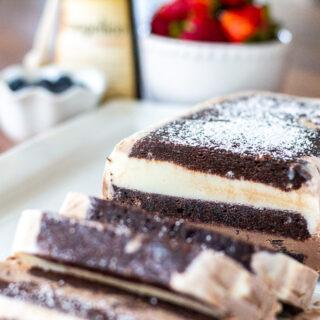 Black and White Brownie Ice Cream Cake