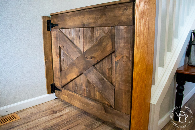 Here's our experience with this simple project to help keep your little ones safe - a DIY farmhouse baby gate, easily modified to fit your space and style!