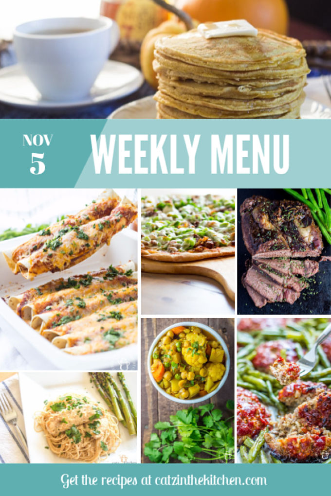 Weekly Menu | Catz in the Kitchen | catzinthekitchen.com | #mealplan