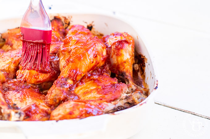 As back to school season sets in, baking up some of this oven barbecue chicken is a great, easy way to hang on to the flavors of summer!