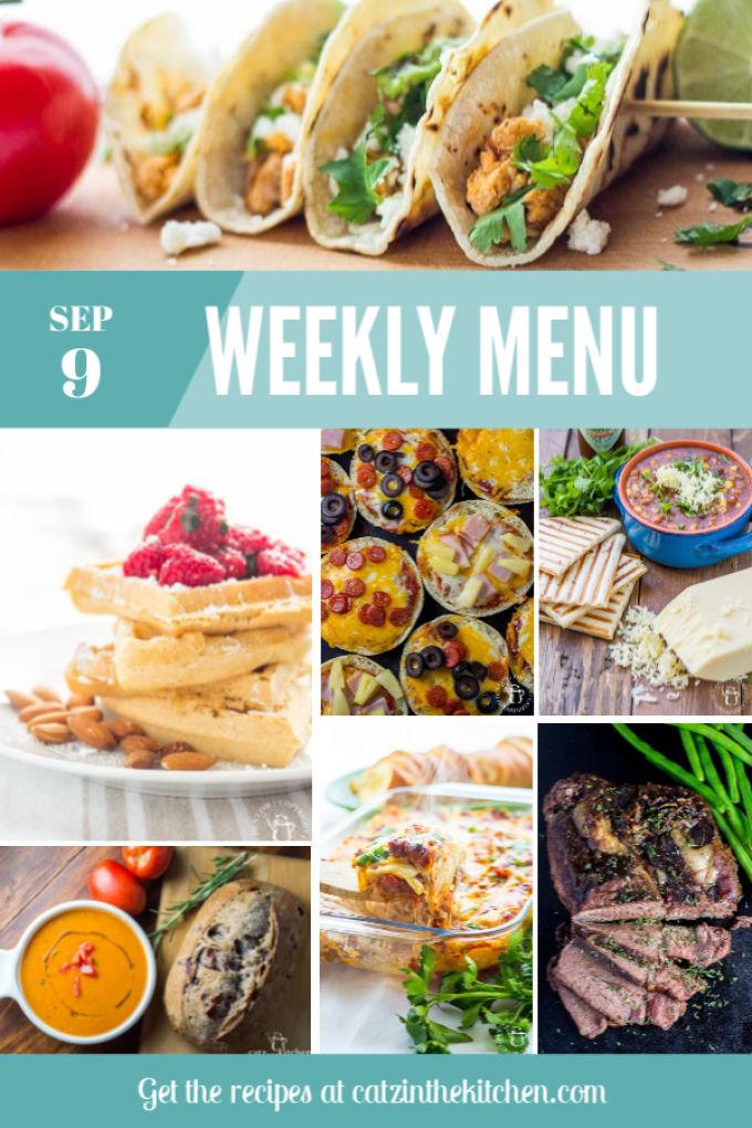 Weekly Menu | Catz in the Kitchen | catzinthekitchen.com | #mealplan
