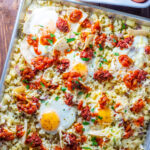 A one pan tex mex sheet pan breakfast...or breakfast for dinner? Count us in! This easy, flexible recipe simply puts great flavors on your table!