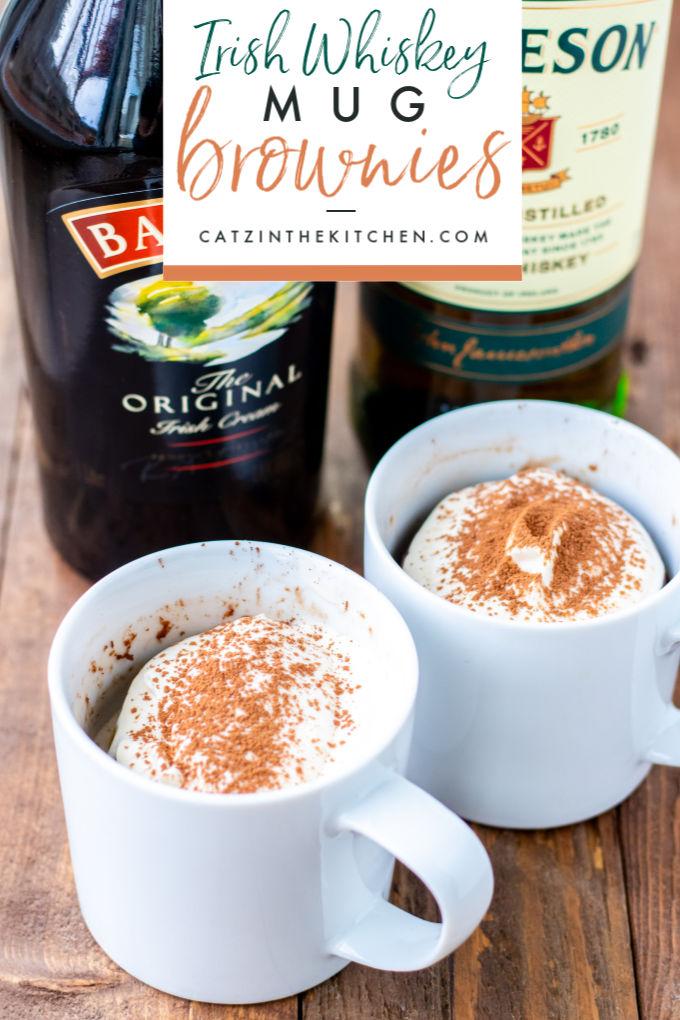 Irish Whiskey Mug Brownies