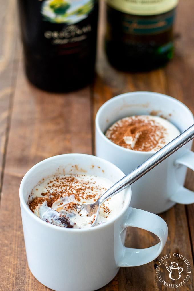 Irish cream mug brownies