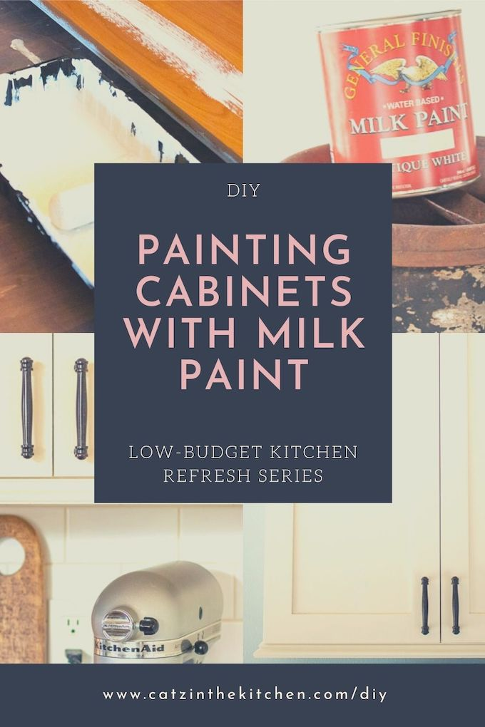 Painting Cabinets with Milk Paint