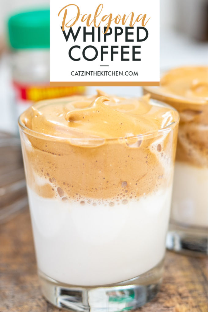 This indulgently creamy four-ingredient recipe for Dalgona Whipped Coffee is absolutely everywhere for a reason - it's addictive!