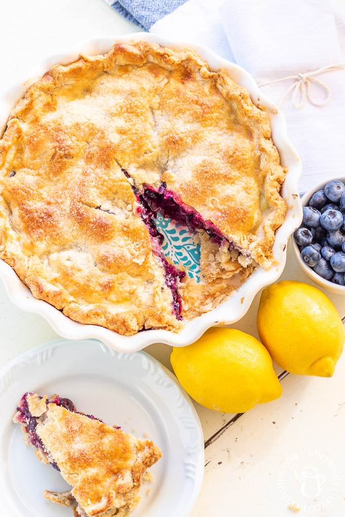 farmhouse blueberry pie