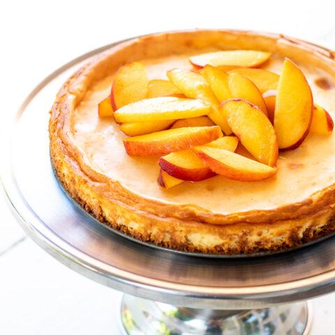 Ginger Peach Cheesecake