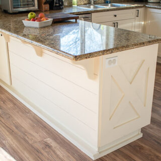 DIY Shiplap Kitchen Counter Bar