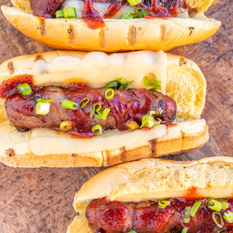 Bacon-Wrapped Cheese Dogs