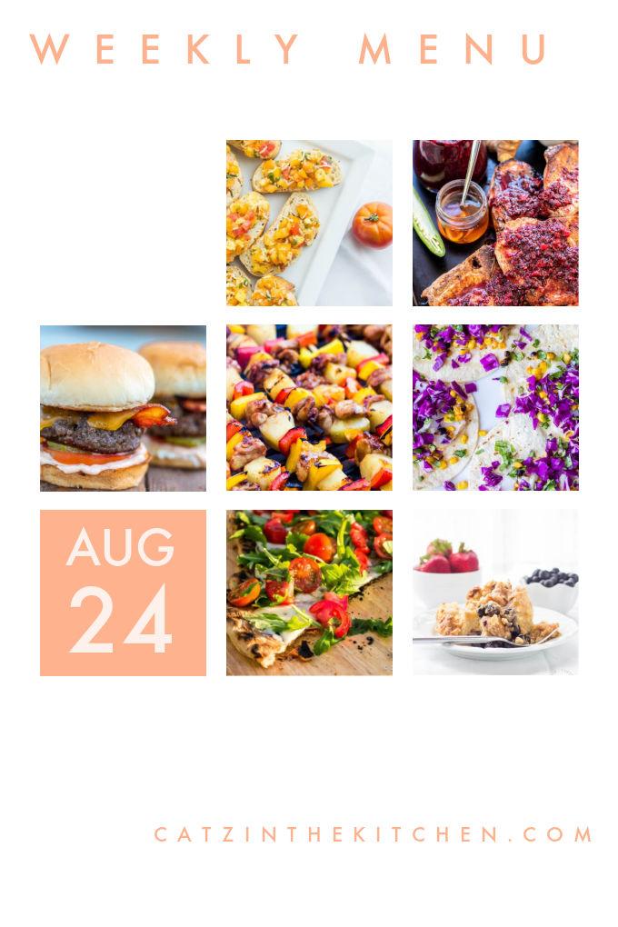 Weekly Menu for the Week of Aug 24