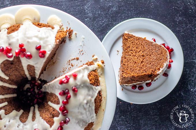 Cocoa Chiffon Cake slice