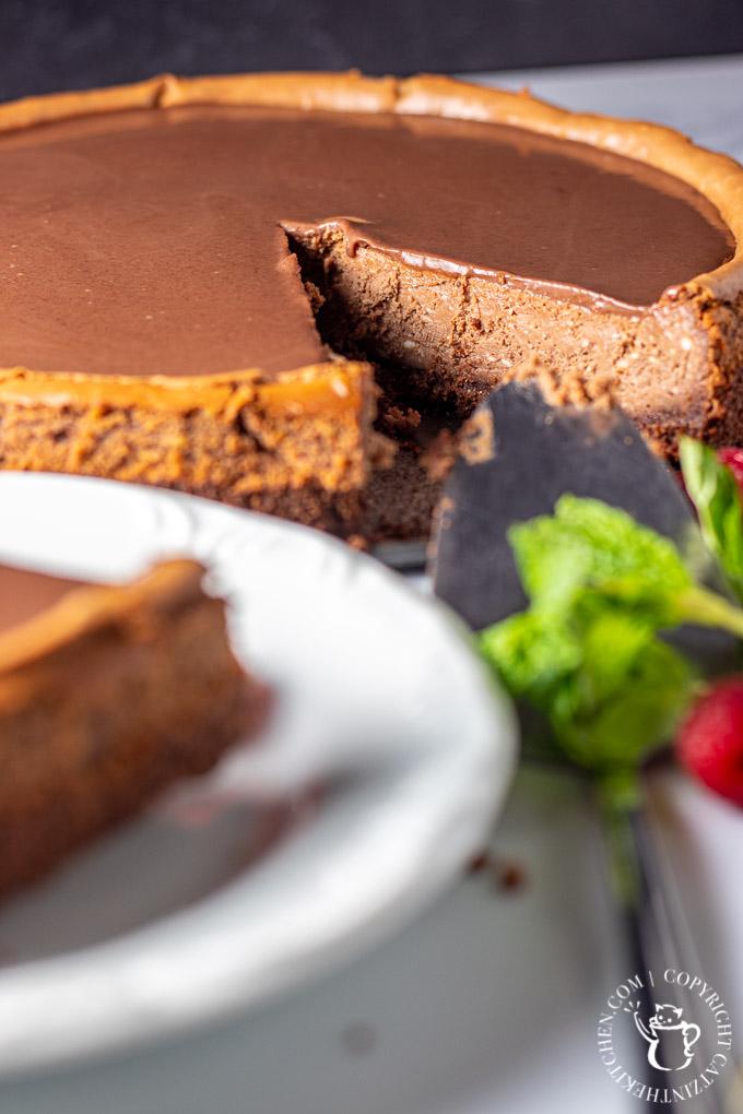 Chocolate Cheesecake close up