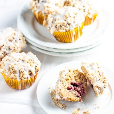 Strawberry Almond Streusel Muffins