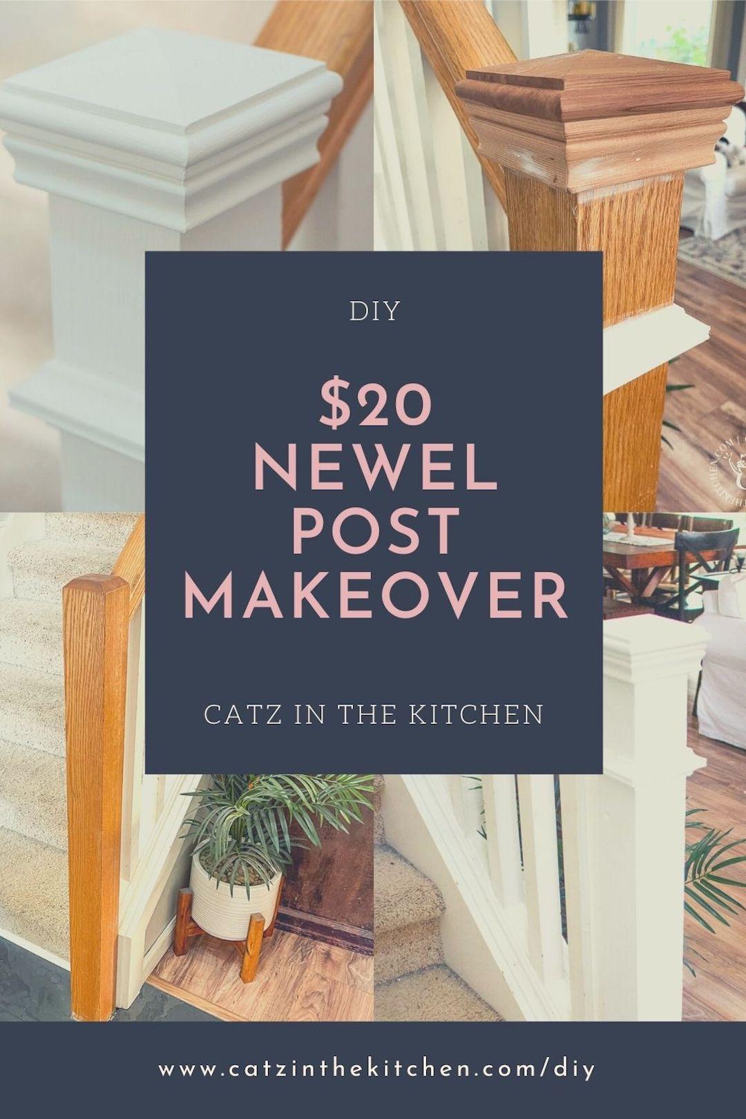 DIY $20 Newel Post Makeover