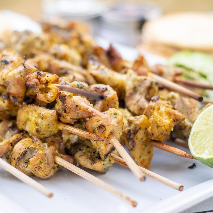 Curry Ginger Chicken Kabobs