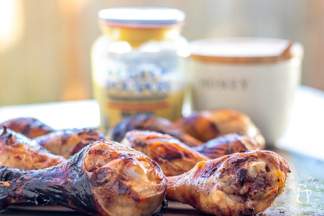 Chicken Drumsticks with honey and dijon mustard